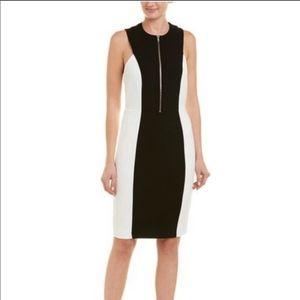 Alexia Admore White Black Colorblock Midi Dress XL